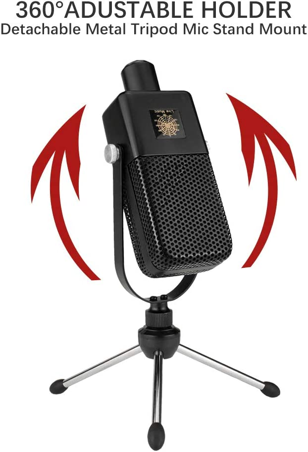 BM 1000 Heart Shaped Capacitor Microphone Deluxe Set FELYBY Professional Recording Microphone Suitable for All Types of Radio Stations Or Recording