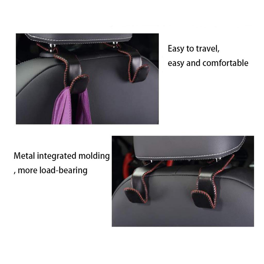 Car Multi-Function car hook seat Back Hook car seat Back Hook Hanging Creative car Interior Small Hook (Color : Black) by Car hook (Image #2)