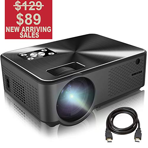Projector, BARZAA Video Projector 4200Lux, Full HD Projector, LED Home Theater Projector Support 1080P 2HDMI 2USB VGA AV Headphone Jack, Compatible Laptop chromecast DVD PS4 (Video Beam Led Projector)