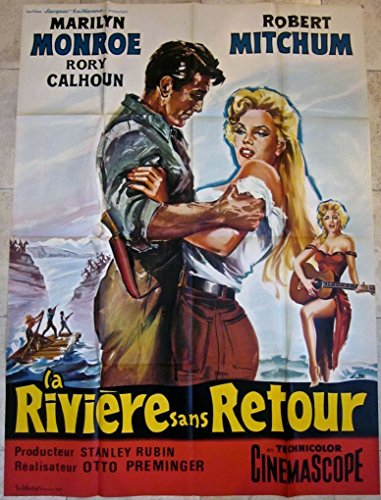 CUT 100 RIVER OF NO RETURN R60'S FRENCH 1 PANEL POSTER - RARE MARILYN ()
