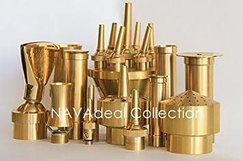"""NAVA New Brass 1.5/"""" DN40 Trumpet Petunia Fountain Nozzle Garden Pond Spray Sprinkler"""