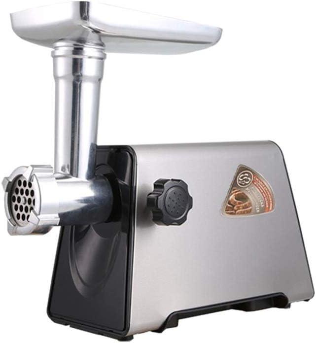 HEMFV Picadora de carne de salchicha Bandeja de aluminio eléctrica máquina de picar carne de salchicha embutidora kit de la máquina de acero inoxidable fabricante de alimentos de corte de las cuchilla