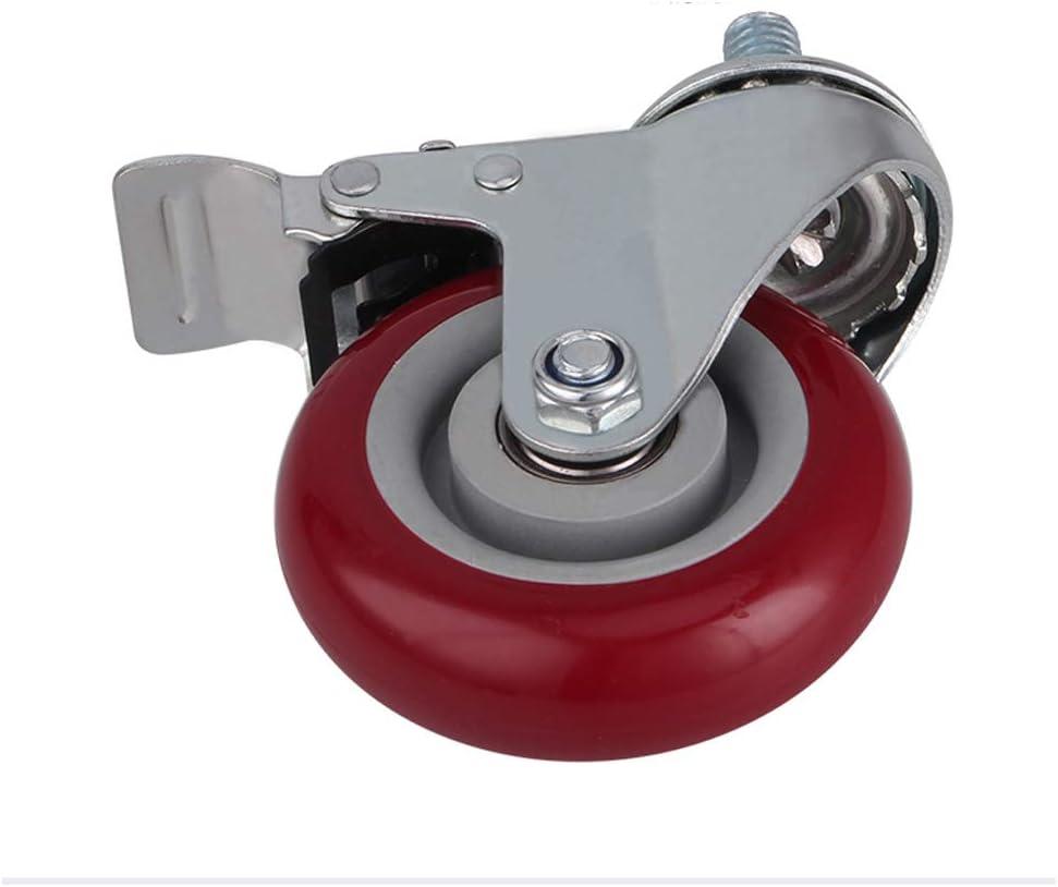 Zhaoxr Castor Wheels,Rubber Swivel Castor Wheel,Silent and Wear Resistant with Brakes,Heavy Duty 300KG