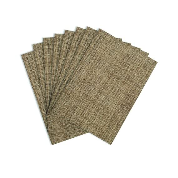 Benson Mills Tweed Woven Vinyl Placemats, Natural, Set of 8 - RESTAURANT QUALITY!  These are perfect for any occasion.  VERY EASY TO CLEAN! Made of 100% Vinyl BEST POSSIBLE VALUE! - placemats, kitchen-dining-room-table-linens, kitchen-dining-room - 51akwe3pgAL. SS570  -