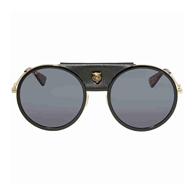 2c8abe838e Gucci GG0061S - anteojos de sol redondas para mujer (56 mm), Black ...