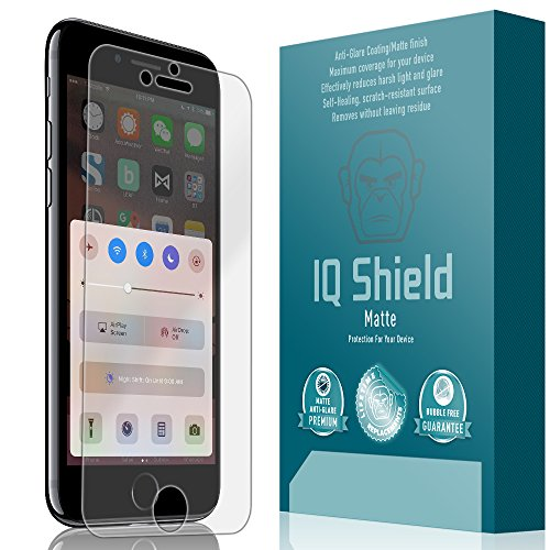 iPhone 7 Screen Protector, IQ Shield Matte Full Coverage Anti-Glare Screen Protector for iPhone 7 (iPhone 6s/6 4.7) Bubble-Free Film - with