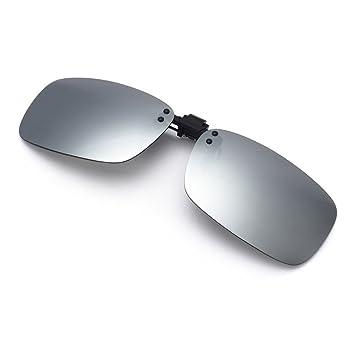 bfd09d1d13 Cyxus Polarized Mirrored Lenses Classic Sunglasses Clip-On Prescription  Glasses  Anti-glare