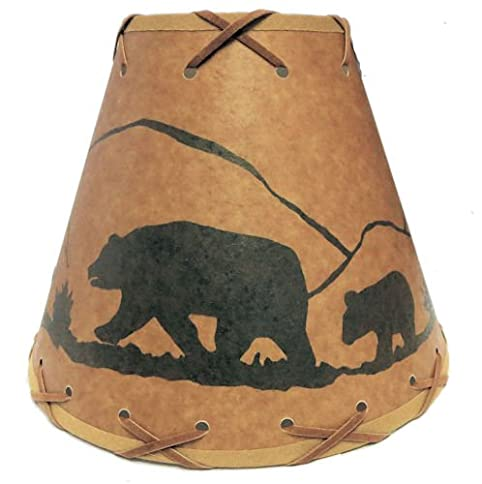 9 Inch Bear Lamp Shade.....Click on Photos to View Sizing and ...