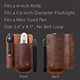 EDC Leather Pocket Pouch, Knife Organizer