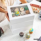 Smirly White Cupcake Boxes 12 Count: Disposable