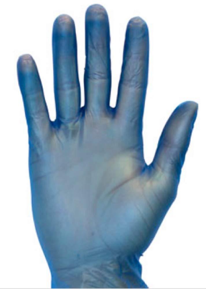 100枚パック ブルービニールパウダーフリーグローブ Lサイズ 保護用金属検出手袋 業務用手袋 使い捨て高耐久手袋 非医療用 快適なフィット感。 非滅菌 B07PYDKG5J
