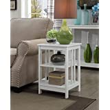 Convenience Concepts Mission End Table , White