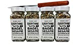 Trader Joes Everything But The Bagel Sesame Seasoning Blend With Sea Salt, Garlic & Onion Bundle - (Pack of 4) and Butter/Cream Cheese Spreading Knife [A+++ Signature Home Kitchen Gift Set]