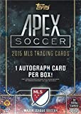 2015 Topps Apex MLS Soccer Unopened Factory Sealed Blaster Box of Packs with 1 Autographed Card in Every Box