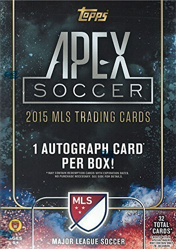 2015 Topps Apex MLS Soccer Unopened Factory Sealed Blaster Box of Packs with 1 Autographed Card in Every - Apex Shop