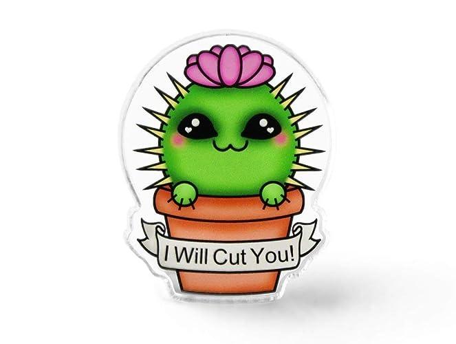 Amazon com: Wicked Cactus Pin - Flair, Aesthetic, Soft