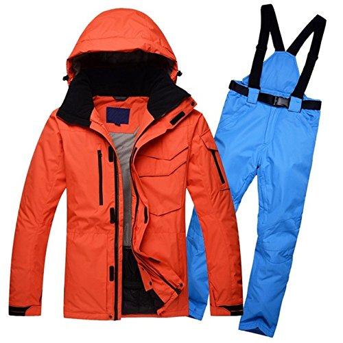 Nuovo Sciare Uomini Impermeabile Giacca Caldo Antivento Pantaloni Yff Solido Colore D Inverno Traspirante Tuta gqwYEI