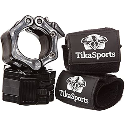 """Quick Release Pair of Locking 2"""" Olympic Size Barbell Clamp Collar Great for Pro Training by Clout Fitness by Clout Fitness"""
