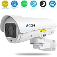 A-ZONE 2.0 Megapixel 1080P AHD Bullet Camera HD, 10x Optical Zoom/30M IR Distance, IP66 Weatherproof Outdoor Security system PTZ Bullet Camera