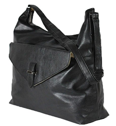 Women Ladies Large Bag Shoulder Tote Leather Look Handbag