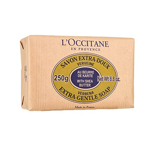 L'Occitane Extra-Gentle Vegetable Based Soap Enriched with Shea Butter - Verbena Scent, 8.8 oz.