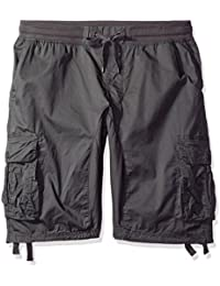 Men's Jogger Shorts With Cargo Pockets In Solid and Camo Colors (Big and Tall)