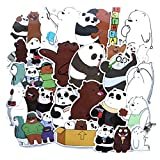 40pcs We Bare Bears for Laptop Stickers Motorcycle Bicycle Skateboard Luggage Decal Graffiti Patches Waterproof Stickers for [No-Duplicate Sticker Pack]