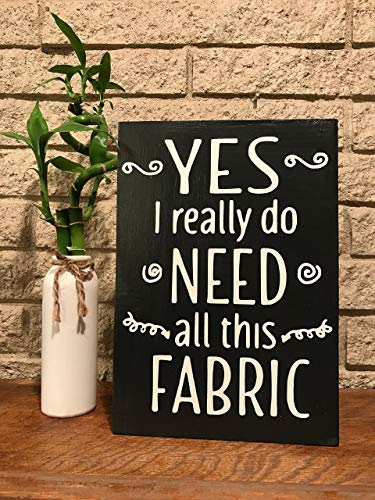 Yes I really do need all this fabric wood sewing sign from Heather Aylette Design