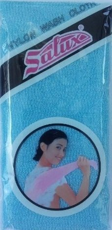 SALUX Nylon Japanese Beauty Skin Bath Wash Cloth/Towel - Blue