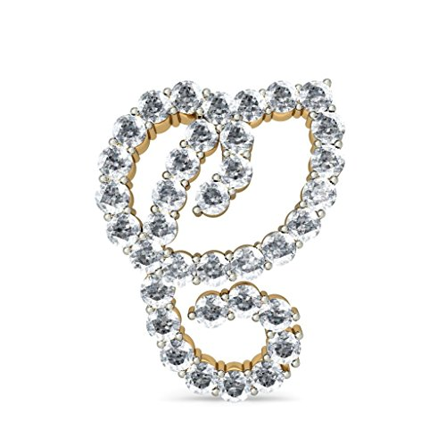 Or jaune 18K 1.8CT TW White-diamond (IJ | SI) Boucles d'oreille à tige