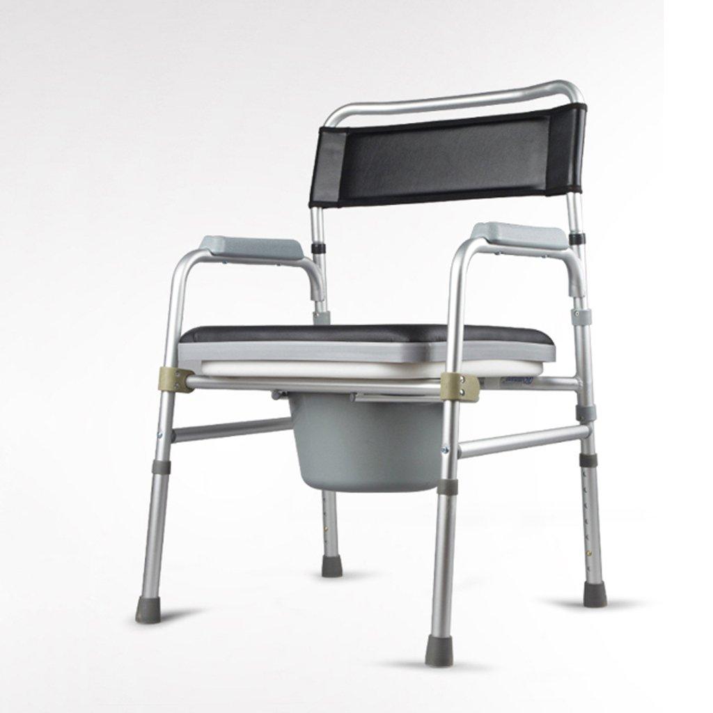 LXN 折りたたみ式トイレ椅子とトイレの椅子のバスルームのアンチスリップ調節可能な高さのバスルームシャワーのスツール高齢者/妊婦/障害者のトイレの椅子 B07DGMBK4J