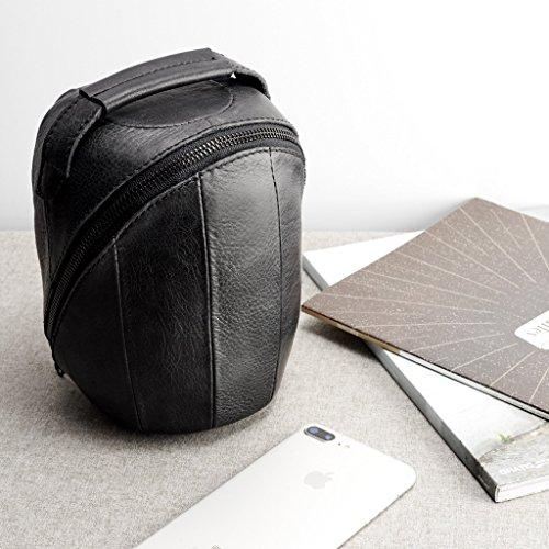 Funda De Viaje De Piel Negra Para HomePod. Estuche Hecho A Mano Para Altavoz De Apple. Bolsa Portatil Para Smart Speaker....