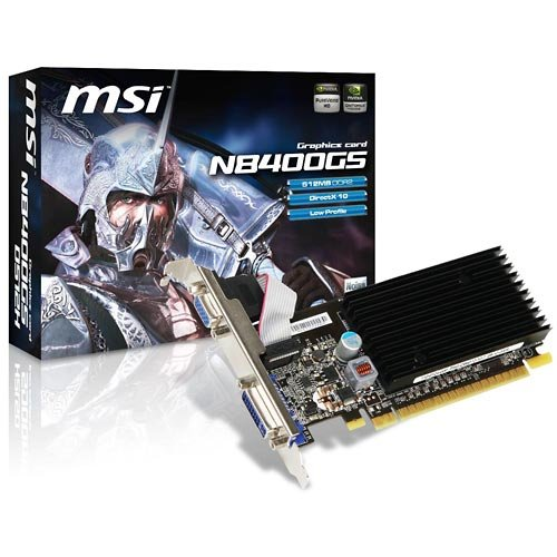 Price comparison product image MSI N8400GS D512H Scheda Video nVidia Msi N8400GS-D512H [V206-003R] - BPM Power