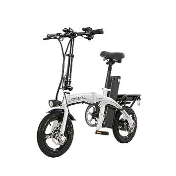 Eléctricas Bicicletas Bicicleta Multifuncional Mini Bicicleta para Hombres y Mujeres Scooter Plegable para Adultos Scooter pequeño de Trabajo conducción ...