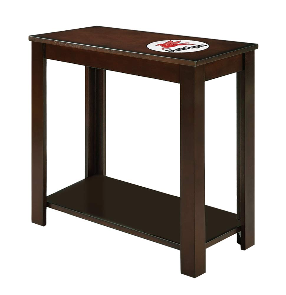 Amazon com the furniture cove end table night stand in a cappuccino espresso finish featuring a vinyl decal of the route 66 theme kitchen dining