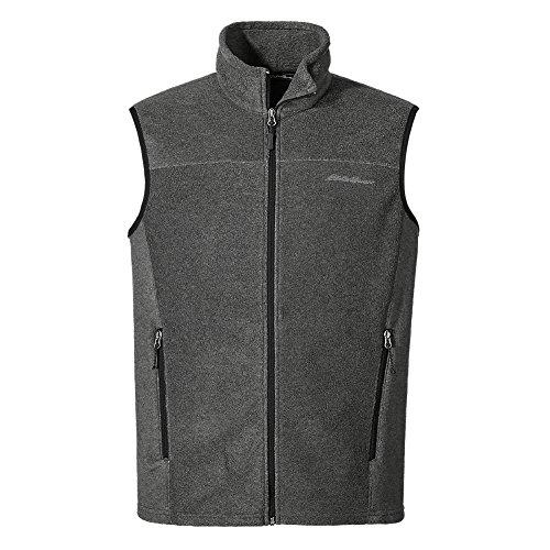 Eddie Bauer Men's Quest 200 Fleece Vest, Charcoal HTR Regular S - Eddie Bauer Spring