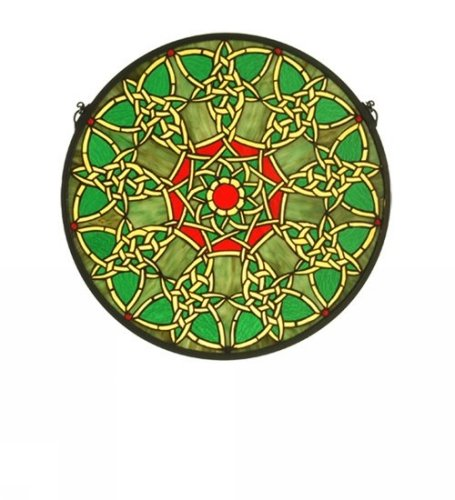 Knotwork Trance Medallion Window Panel