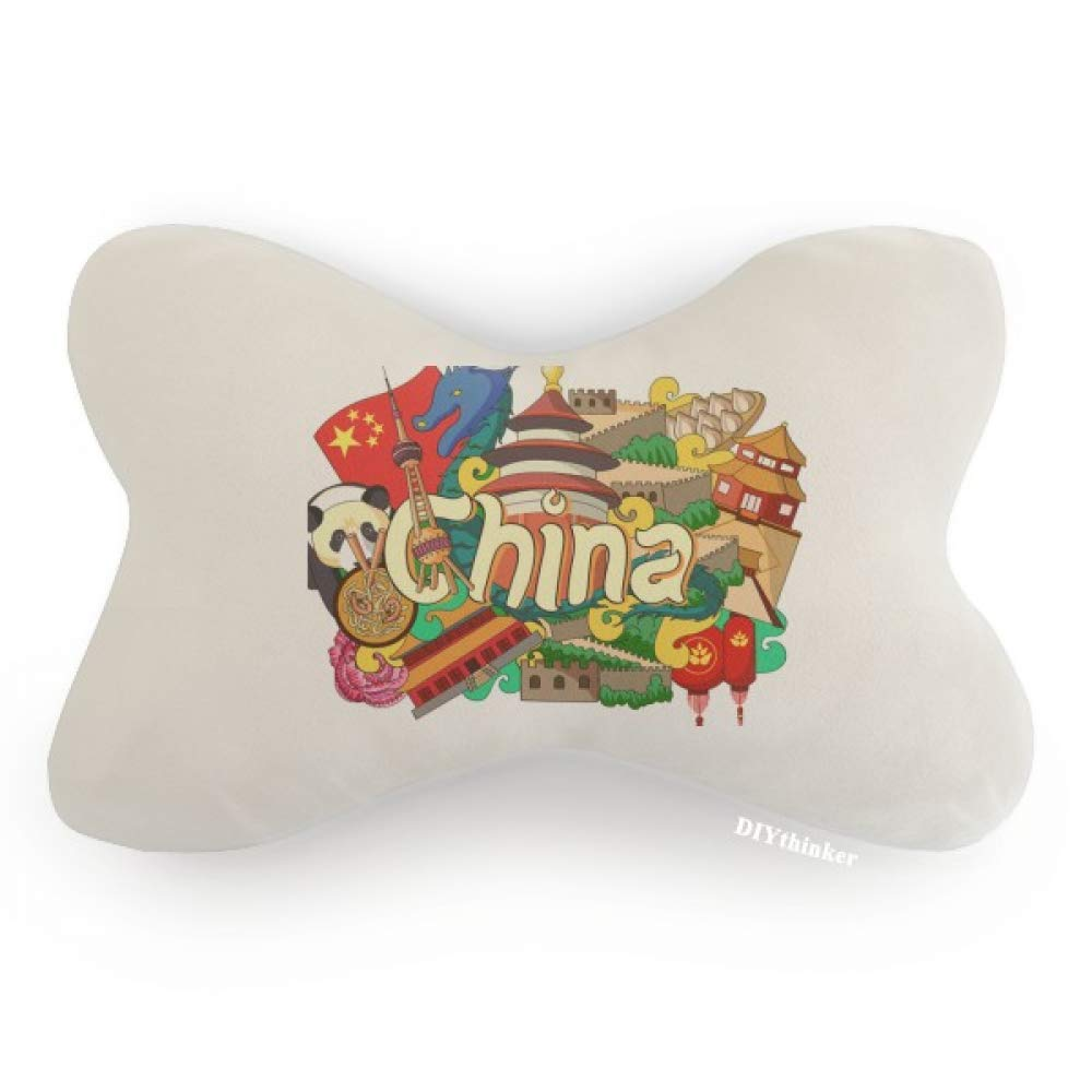 DIYthinker Panda Great Wall Imperial Palace China Car Neck Pillow Headrest Support Cushion Pad