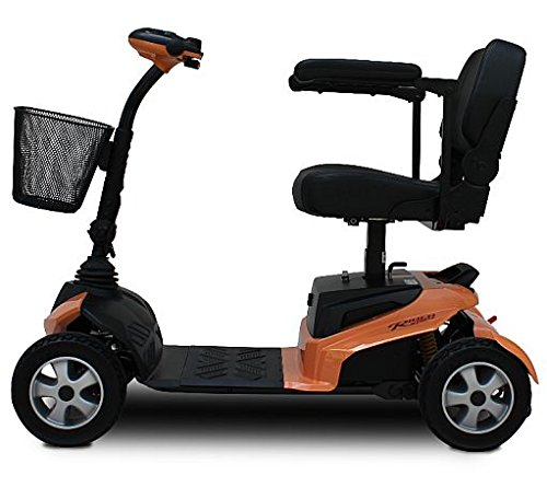 EV Rider - The RiderXpress RiderXpress 4 Wheel Scooter - Orange Ev