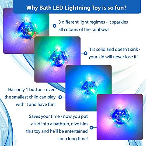Caseometry Upgraded Light-up Toy Waterproof for Kids Durable Floating Safe for Baby with Instruction Boys and Girls Toddler Toys Children Prime Water Gift Toys Educational Boat Pool Fun by Caseometry (Image #3)