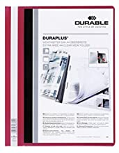 Durable Duraplus - Carpeta con identificador, color rojo
