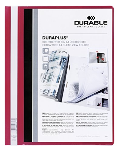 Durable Duraplus 257903 Folder, A4 (Red/Transparent)
