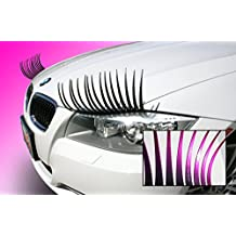 CarLashes Ombre Shaded PINK Car Eyelashes, Special Edition, Hand Airbrushed Bright Candy Color Tips, Ladies Fashion, Girly Car Accessory, Miles of Smiles