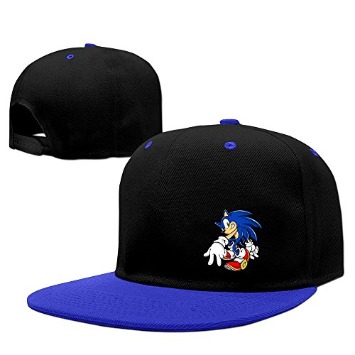 The Sonic Hedgehog Snapback Hip Hop Baseball Cap Hat Adjustable 100% Cotton Male/Female RoyalBlue By (Female Sonic The Hedgehog)