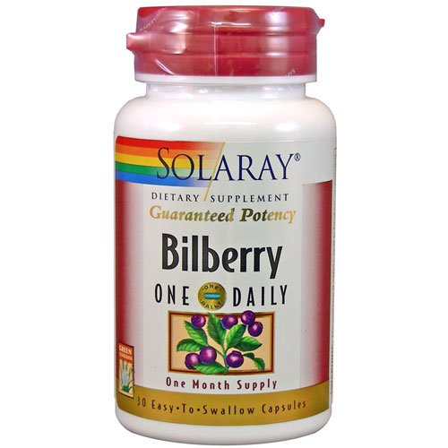 Solaray - Bilberry One Daily, 160 mg, 30 capsules