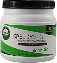 SpeedyVeg Organic Growth Accelerator Cannabis Soil Amendment, 100 Applications per Bottle (2.2 lbs)
