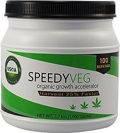 SpeedyVeg Organic Growth Accelerator Cannabis Soil Amendment, 100 Applications per Bottle (2.2 lbs)