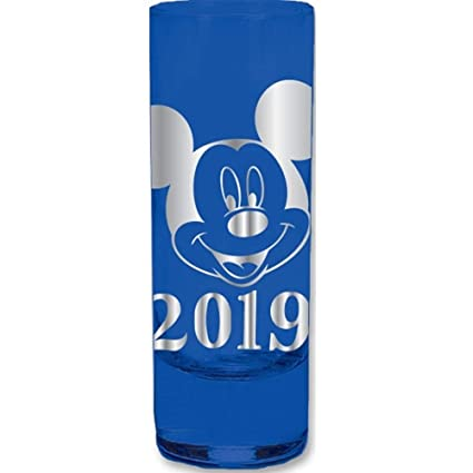 Amazon com | 2019 Dated Mickey Mouse Face Collection Glass, Blue