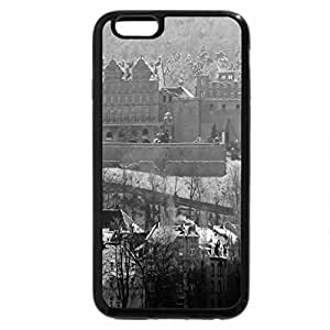 iPhone 6S Case, iPhone 6 Case (Black & White) - The Castle of Heidelberg in winter