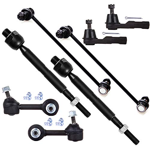SCITOO 8pcs Suspension Kit 2 Front Inner 2 Front Outer Tie Rod End (Inner-USA) 2 Front 2 Rear Sway Bar Compatible fit 2010-2011 Honda CR-V 2007-2008 Honda CR-V 2WD Inner Tie Rod Fits USA Models Only